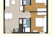 Bán căn hộ 9 View, 64.98m2, 2PN, 2 WC, tầng cao - chính chủ bán