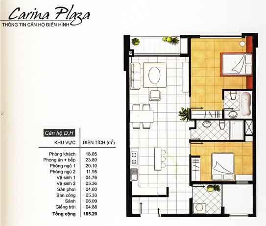Thiết kế, mẫu nhà của Carina Plaza | 4