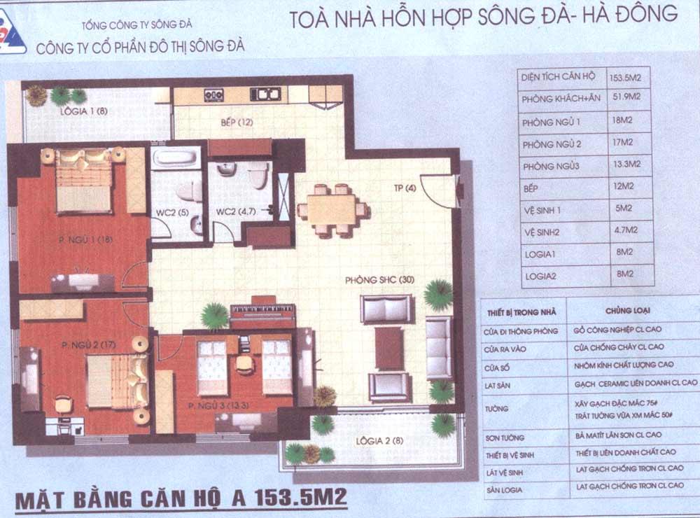 Thiết kế, mẫu nhà của Tòa nhà hỗn hợp Sông Đà - Hà Đông | ảnh 2